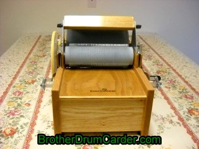 Deluxe Manual Carder - Brother Drum Carder