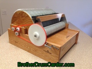Extra Wide Deluxe Carder - Brother Drum Carder