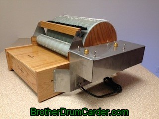 Extra Wide Motorized Carder - Brother Drum Carder
