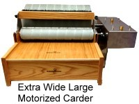 Extra Wide Large Motorized Carder